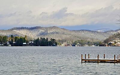 Winter On The Lake Art Print by Susan Leggett