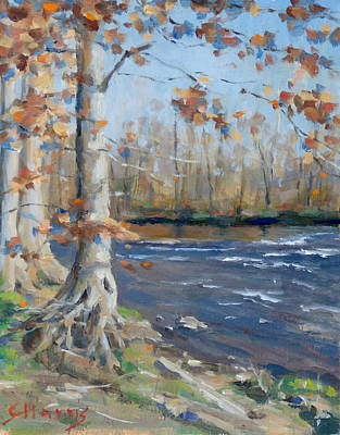 Nashville Park Painting - Winter On The Little Harpeth by Sandra Harris
