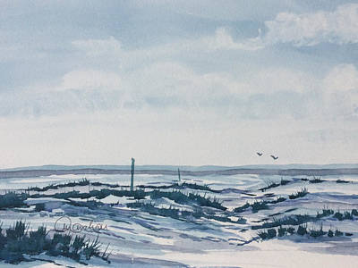 Painting - Winter On The Moors by Glenn Marshall