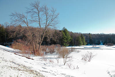 Snow Scenes Photograph - Winter On The Moose River - Old Forge New York by David Patterson