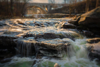 Metro Park Photograph - Winter On The Rocky River by Michael Demagall