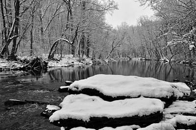 Winter On The Wissahickon Creek Art Print by Bill Cannon