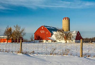 Weed Photograph - Winter Ontario Farm 2 by Steve Harrington