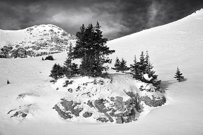 Photograph - Winter Outcropping by Morris  McClung