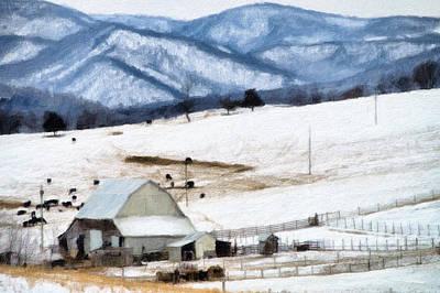 Winter Paint Art Print