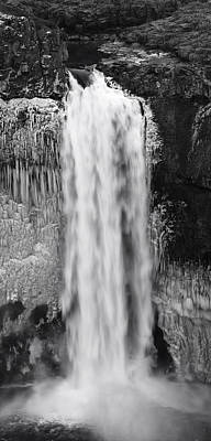 Rock Wall Photograph - Winter Palouse Falls Vertical by Mark Kiver