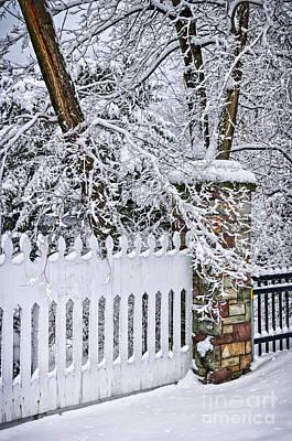 Winter Park Fence Art Print