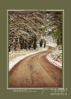 Photograph - Winter Path Scenic Landscape Christmas Cards by Jai Johnson