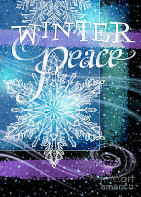 Digital Art - Winter Peace Greeting by Randy Wollenmann