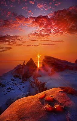 Frozen Lake Photograph - Winter Peaks by Phil Koch