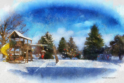 Snowscape Digital Art - Winter Photo Art 01 by Thomas Woolworth