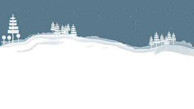 Winter Pines Art Print by Kevin McLaughlin