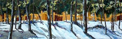 Winter Pines Art Print by Saundra Lane Galloway