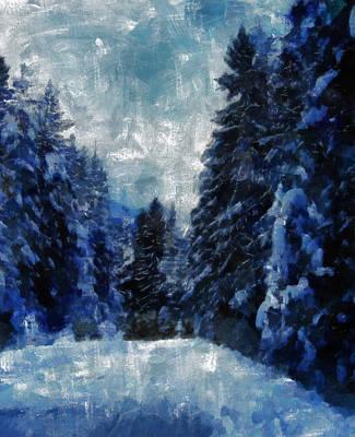 Winter Piny Forest Art Print by Georgi Dimitrov