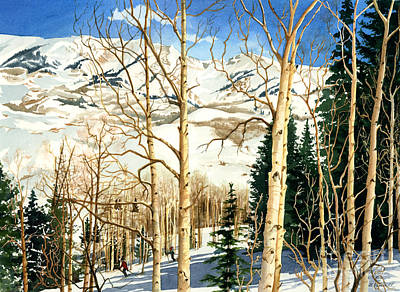 Ski Painting - Winter Playground  by Barbara Jewell