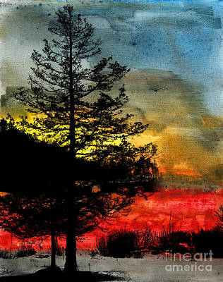 Winter Poise Art Print by R Kyllo