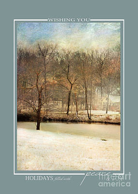 Photograph - Winter Pond Scenic Landscape Christmas Cards by Jai Johnson