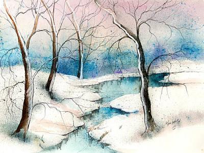 Winter Ponds  Art Print by Anna Sandhu Ray
