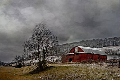 Photograph - Winter Quilt Barn by Carol Erikson