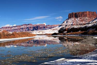 Photograph - Winter Red Rock Reflections by Adam Jewell