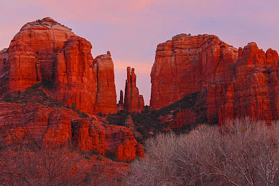 Winter Reds In Sedona Art Print by Christopher Martin