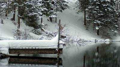 Kim Fearheiley Photography - Winter reflection 003 by Optical Playground By MP Ray
