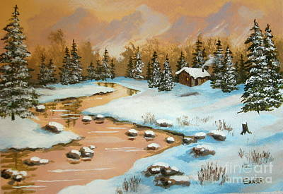 Painting - Winter  Reflection  by Shasta Eone