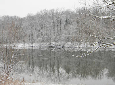 Photograph - Winter Reflections 2 by Mark Minier