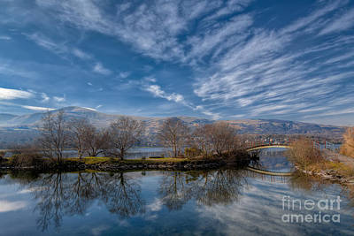 Llanberis Photograph - Winter Reflections by Adrian Evans