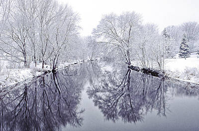 Snowstorm Photograph - Winter Reflections by Andrew Soundarajan