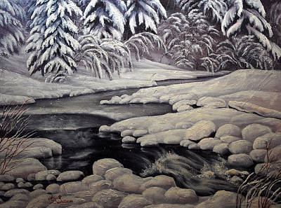 Painting - Winter Reflections In Montana by Lori Salisbury