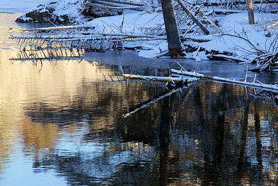 Photograph - Winter Reflections by Jim Vance