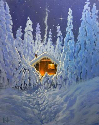 Painting - Winter Retreat by Paul K Hill