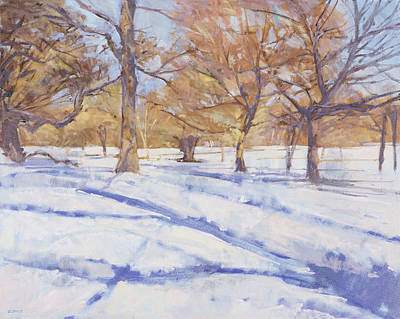 Winter, Richmond Park Print by Christopher Glanville