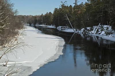 Winter River I Art Print