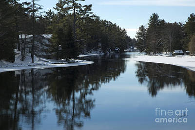 Winter River II Art Print