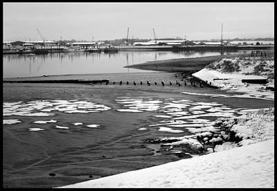 Photograph - Winter River. by Terence Davis