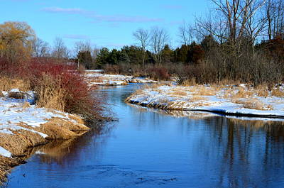 Winter River1 Art Print by Jennifer  King