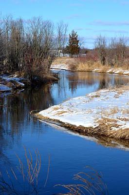 Winter River4 Art Print by Jennifer  King