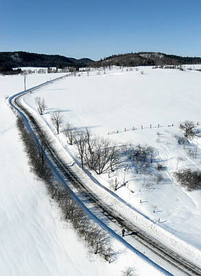 Photograph - Winter Road. Chemin Cross Loop. by Rob Huntley