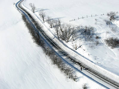 Photograph - Winter Road. Chemin Cross Loop South Of Wakefield Quebec. by Rob Huntley