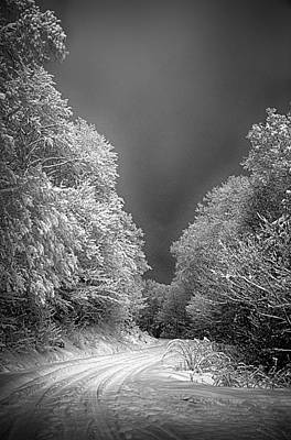 Photograph - Winter Road by John Haldane