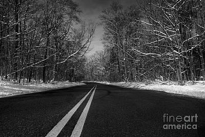 Nj Photograph - Winter Road by Mark Miller