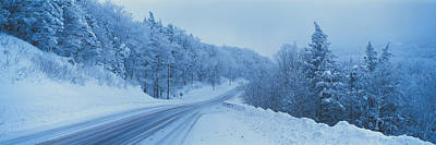 Winter Road Nh Usa Art Print by Panoramic Images