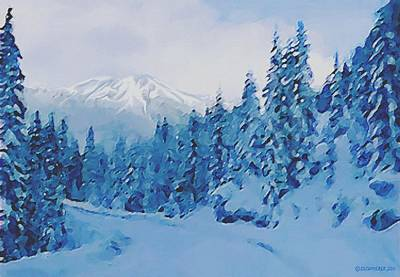 Painting - Winter Road by Sophia Schmierer