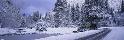 Winter Road, Yosemite Park, California Art Print by Panoramic Images