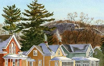 Painting - Winter Rooftops by Phyllis Martino