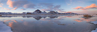 Bonneville Photograph - Winter Salt Flats by Chad Dutson