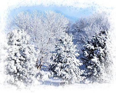 Winter Photograph - Winter Scene 2 by Cindi Snow