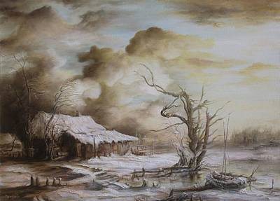 Tablou Painting - Winter Scene by Dan Scurtu